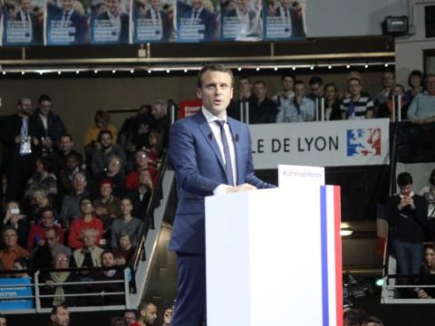 Emmanuel Macron au Palais des Sports de Gerland - LyonMag