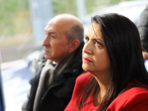 Fouziya Bouzerda, ici avec Gérard Collomb - LyonMag