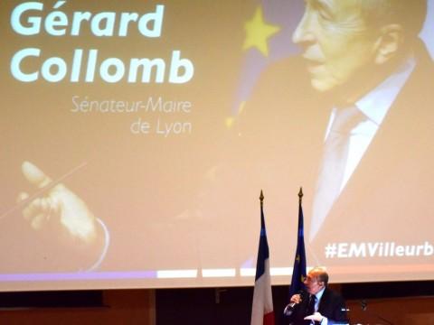 Gérard Collomb à la tribune à la Doua - LyonMag