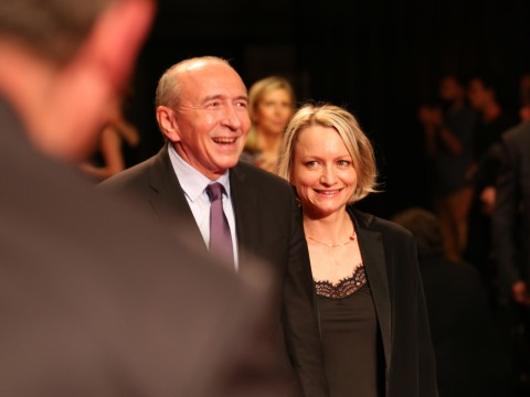 Caroline Collomb et son ministre de mari ce samedi à l'ouverture du Festival Lumière - LyonMag