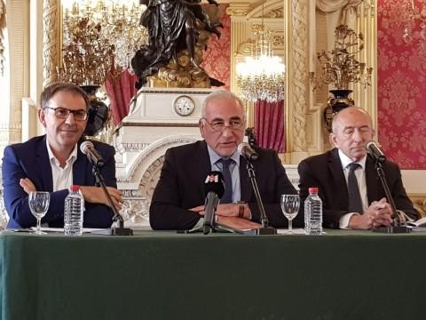 David Kimelfeld, Georges Képénékian et Gérard Collomb ce mercredi matin - LyonMag