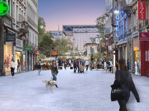 La future rue Victor-Hugo, côté place Carnot - DR