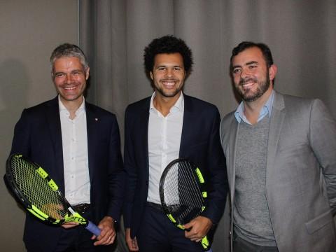 Laurent Wauquiez aux côtés de Jo-Wilfried Tsonga et Thierry Ascione - Lyonmag.com