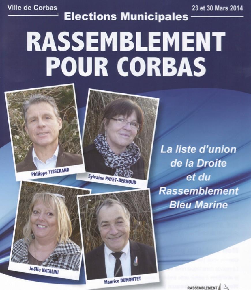 Municipales dans le Rhône : à Corbas, le FN et des dissidents UMP font alliance