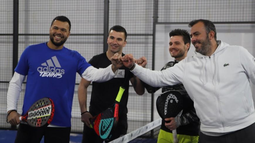 Jo-Wilfried Tsonga et Anthony Lopes donnent les premiers coups de raquette à la All In Padel
