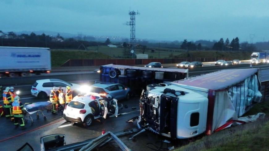 A89 : un camion se couche, le trafic interrompu
