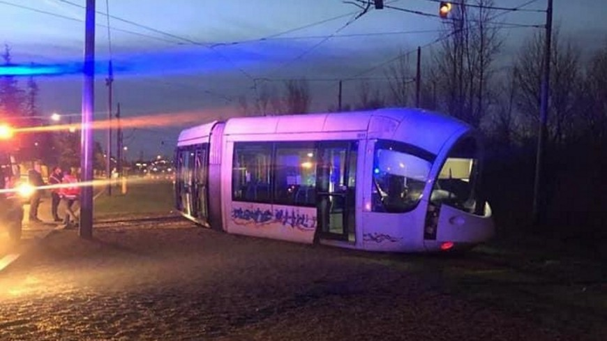 Une rame de tram déraille près de Lyon : 4 blessés légers