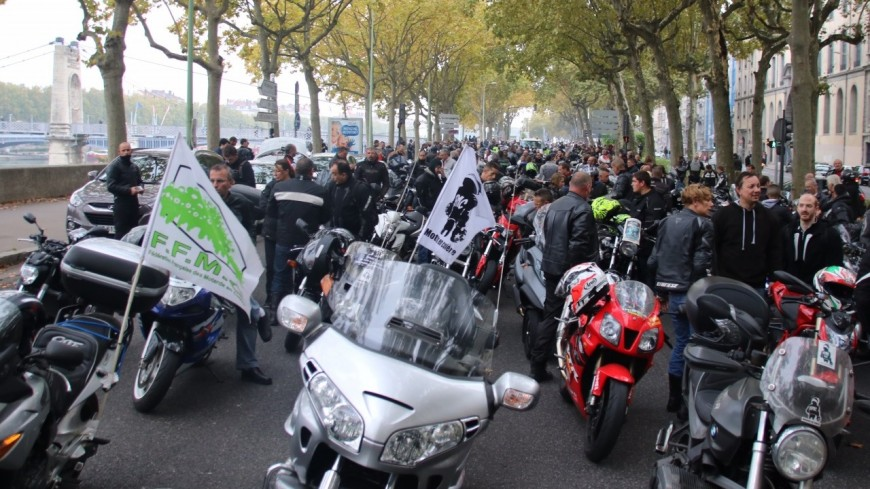 Circulation inter-files : de nombreux motards en colère attendus dans Lyonce samedi