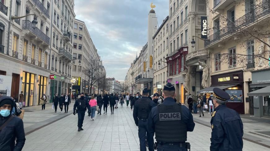Lyon : du monde dans les rues de Lyon ce samedi en fin de journée, une opération de contrôle rue de la Ré