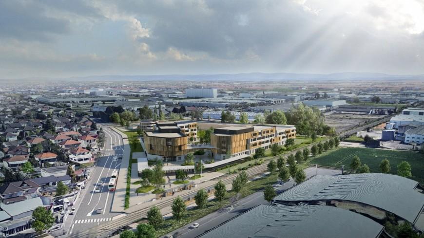 La Région dévoile le projet architectural du lycée Colonel Arnaud Beltrame de Meyzieu