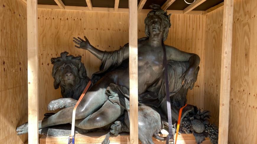 Lyon : les statues du Rhône et de la Saône sauvées par le Musée des Beaux-Arts
