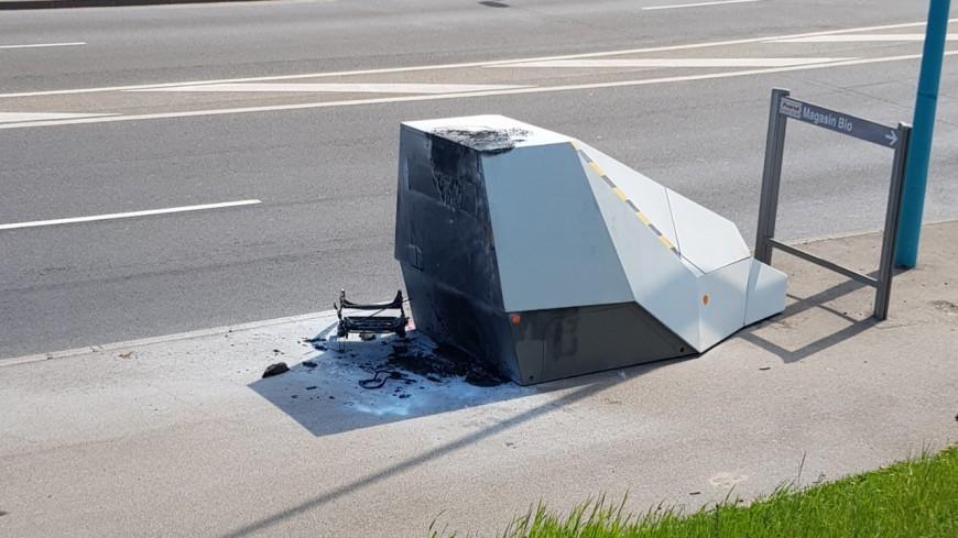 Près de Lyon : un radar incendié trois jours après son installation