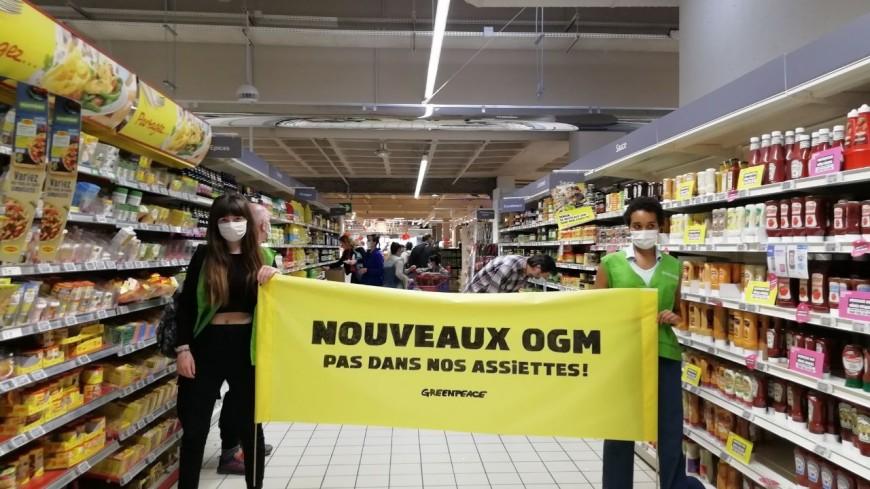"""Lyon : une opération coup de poing des militants de Greenpeace contre les """"nouveaux OGM"""""""