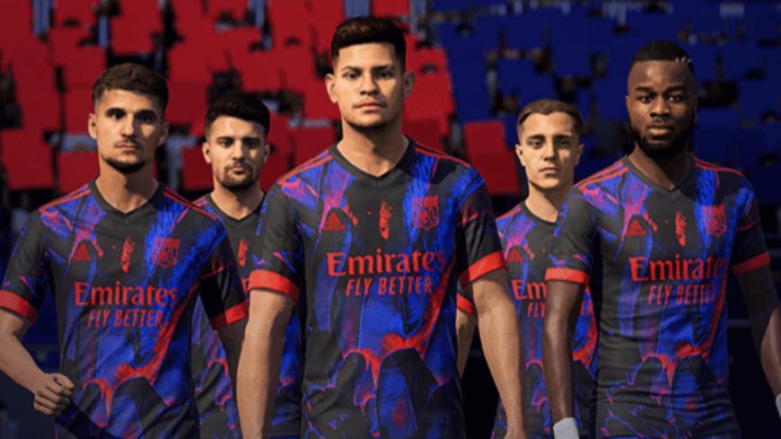 Un nouveau maillot digital pour l'OL sur FIFA 21