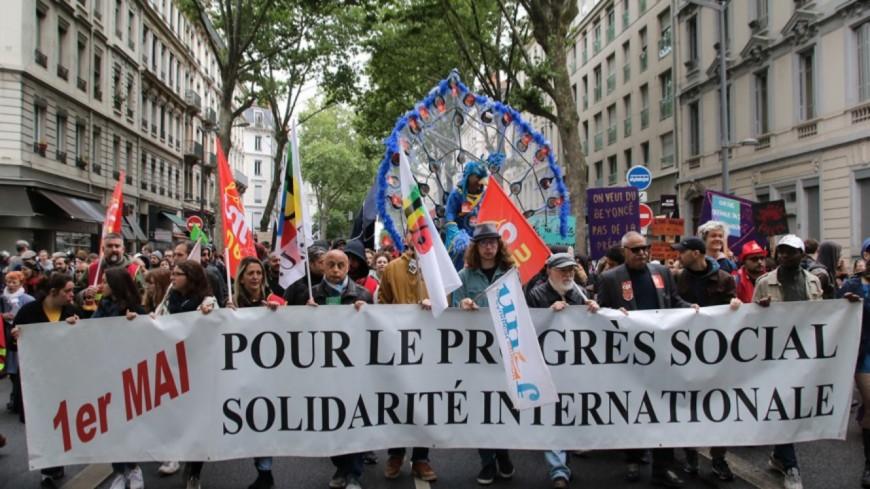 """Manifestation du 1er mai à Lyon : les syndicats appellent à """"changer de cap"""""""