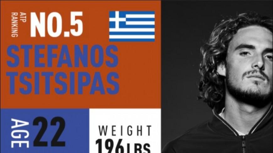 Lyon : Stéfanos Tsitsipás sera également présent à l'Open Parc Auvergne-Rhône-Alpes