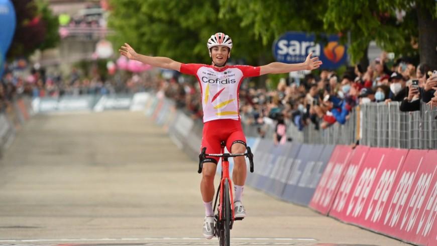 Le Lyonnais Victor Lafay remporte la 8e étape du Giro