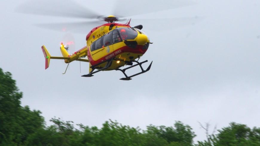 Un motard héliporté à l'hôpital Edouard-Herriot de Lyon après un accident à Cublize