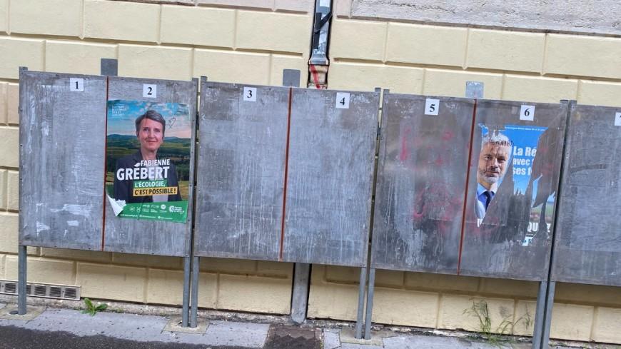 Régionales à Lyon : Pierre Oliver dénonce les dégradations des affiches de Wauquiez, le clan Grébert l'accuse de calomnie