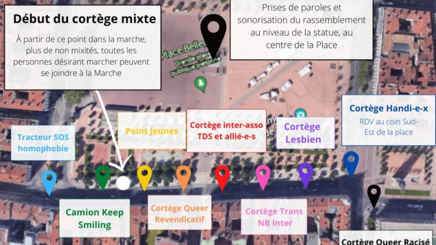 Lyon : les cortèges très communautaristes de la Marche des fiertés