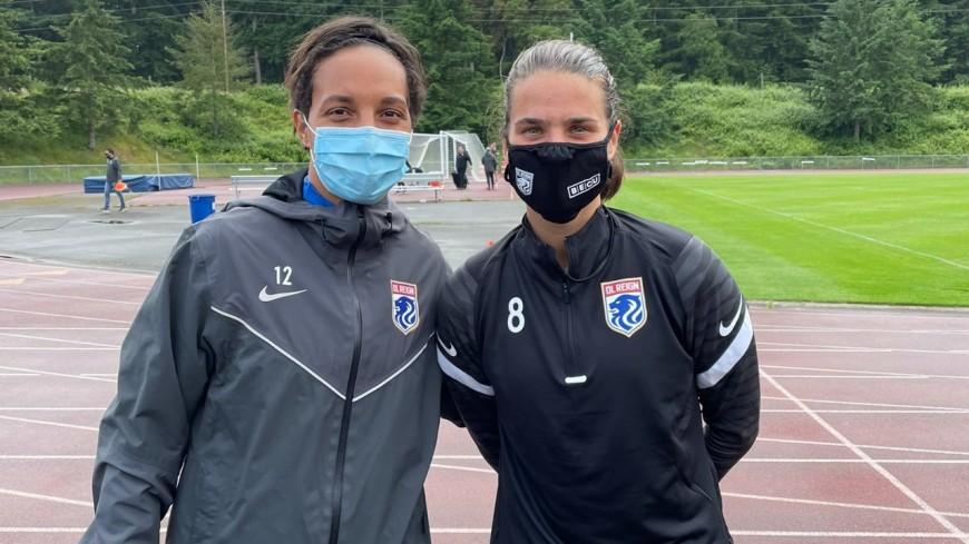 OL féminin : Sarah Bouhaddi et Dzsenifer Marozsán ont effectué leur premier entraînement aux Etats-Unis