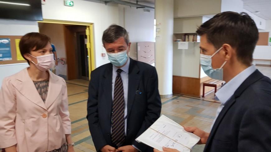 Lyon : le recteur en visite à Juliette Récamier pour le bac 2021
