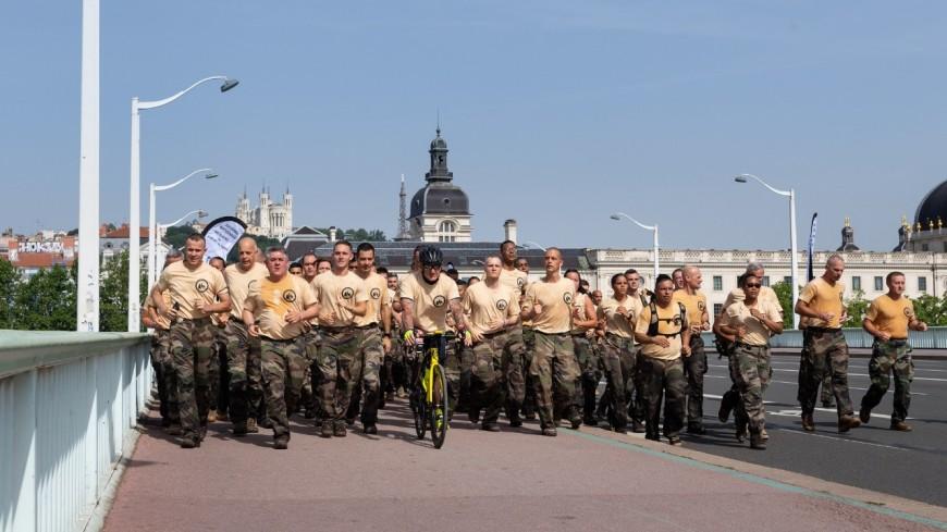Lyon : 500 militaires ont couru ce samedi pour les blessés de l'armée de Terre