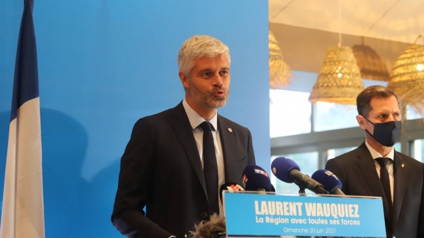 """Régionales: """"Le début d'une nouvelle espérance"""", selon Laurent Wauquiez en tête au premier tour"""