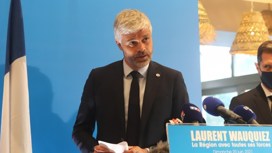 Régionales 2021 : Laurent Wauquiez en tête, mais sans le sourire