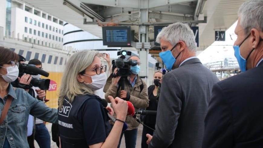 Lyon : à peine réélu, Laurent Wauquiez se montre sur le terrain à la Part-Dieu