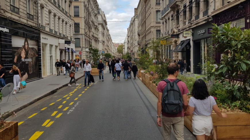 Lyon : une troisième opération de piétonnisation prévue mi-septembre