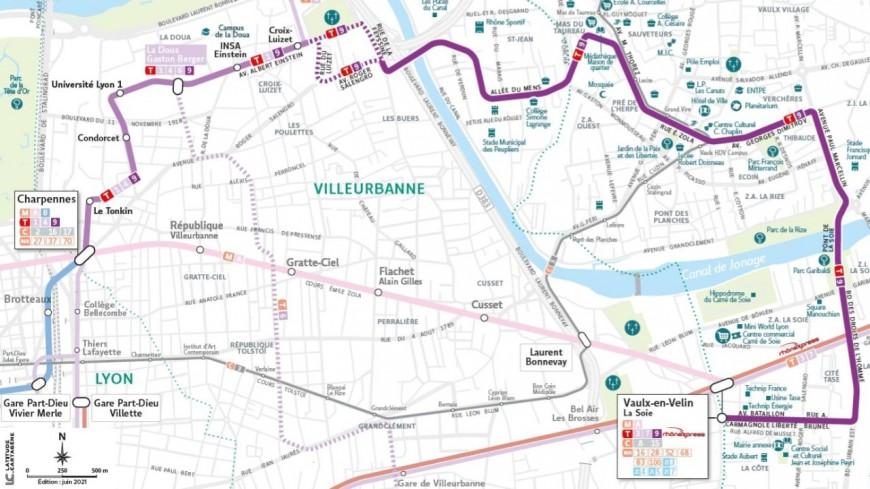 De Vaulx-en-Velin à Villeurbanne : après le T10, le Sytral présente le tracé du futur tramway T9
