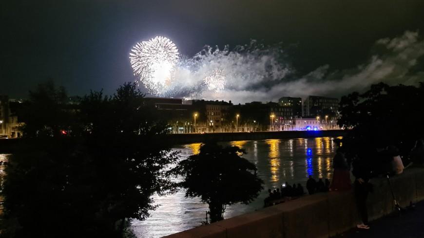 Des avis mitigés après le feu d'artifice du 14 juillet à Lyon