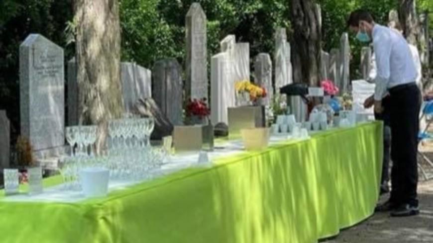 Lyon : des internautes choqués par le buffet des écologistes devant les tombes du cimetière de la Guillotière
