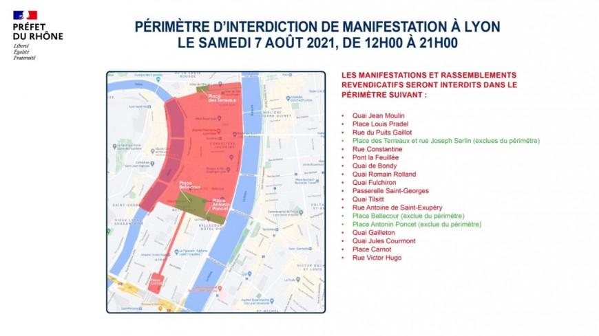 Un nouveau périmètre d'interdiction de manifestation dans le centre de Lyon ce samedi