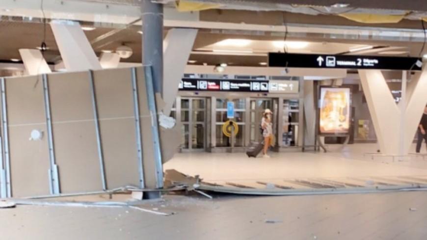 Un morceau de plafond s'effondre à l'aéroport de Lyon Saint-Exupéry