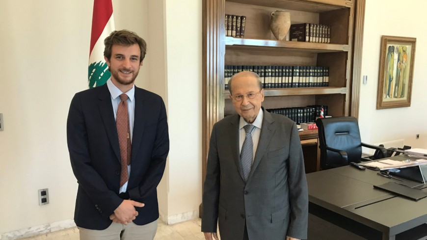Andrea Kotarac reçu par le président du Liban