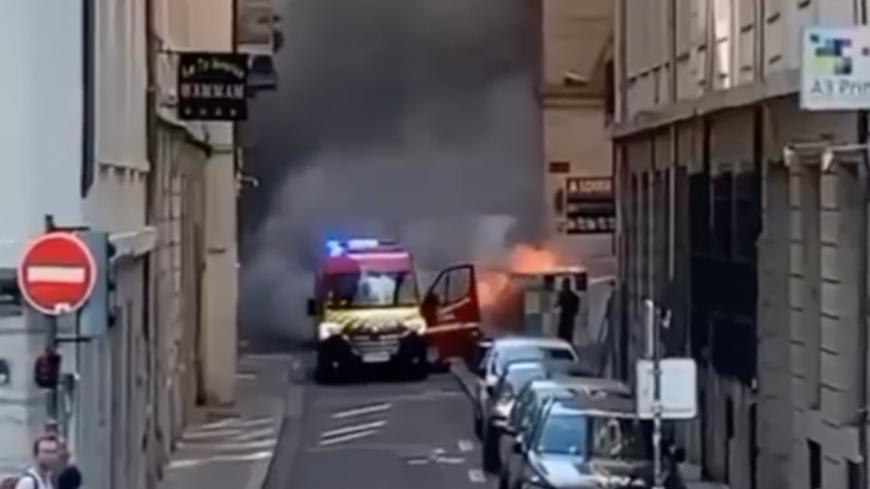 Lyon : un feu de container à proximité de l'Opéra