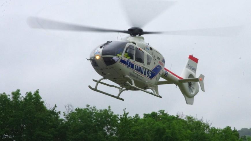 Une motarde grièvement blessée héliportée à Lyon après un accident