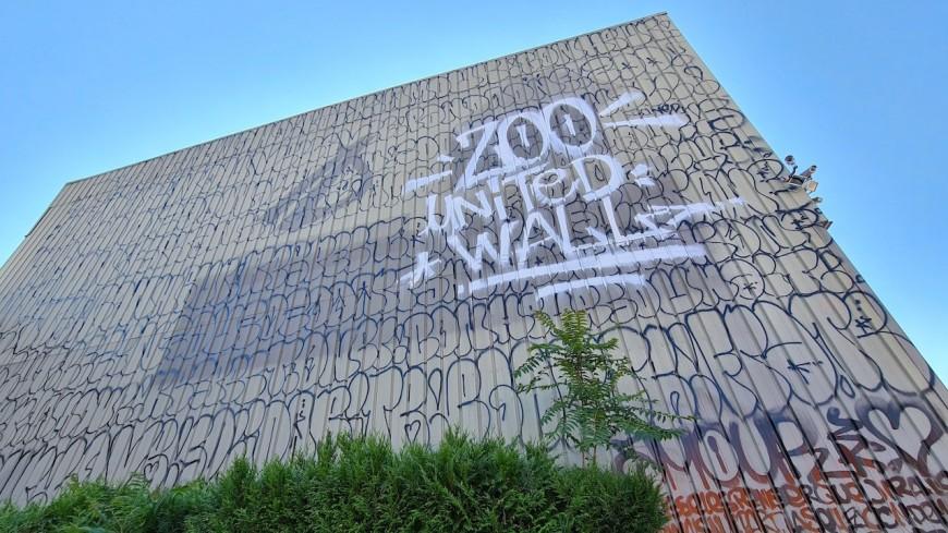 Zoo United Wall: la fresque participative aux 15 000 tags se dévoile à Villeurbanne