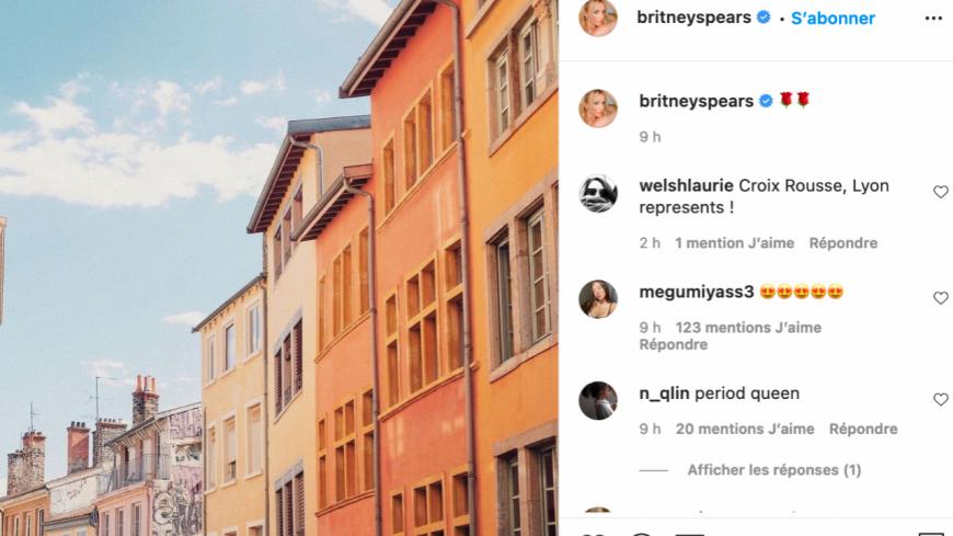 L'énigmatique post Instagram de Britney Spears sur Lyon