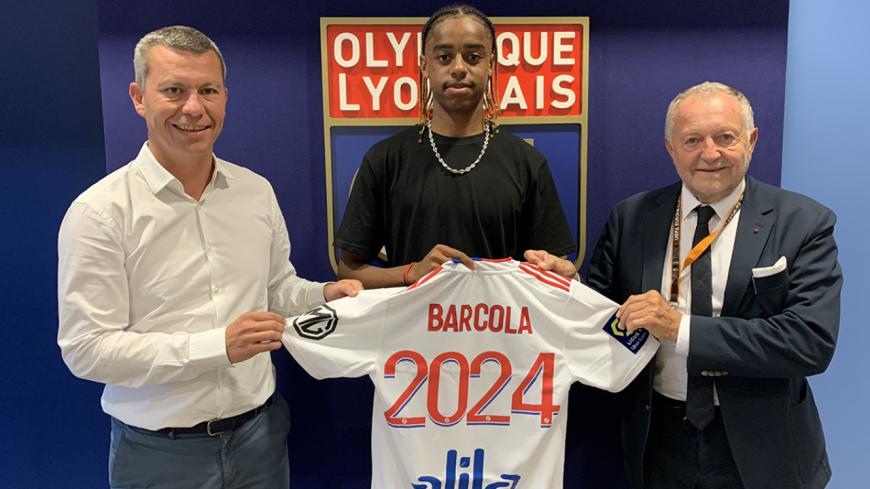 OL : premier contrat pro pour Bradley Barcola