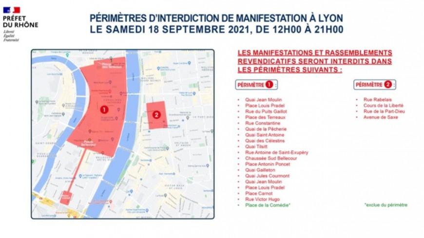 Manifestation anti-pass sanitaire : les rassemblements interdits en Presqu'Île à Lyon ce samedi