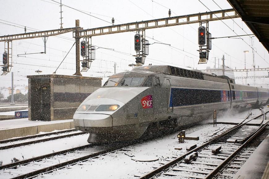 La neige perturbe également la SNCF