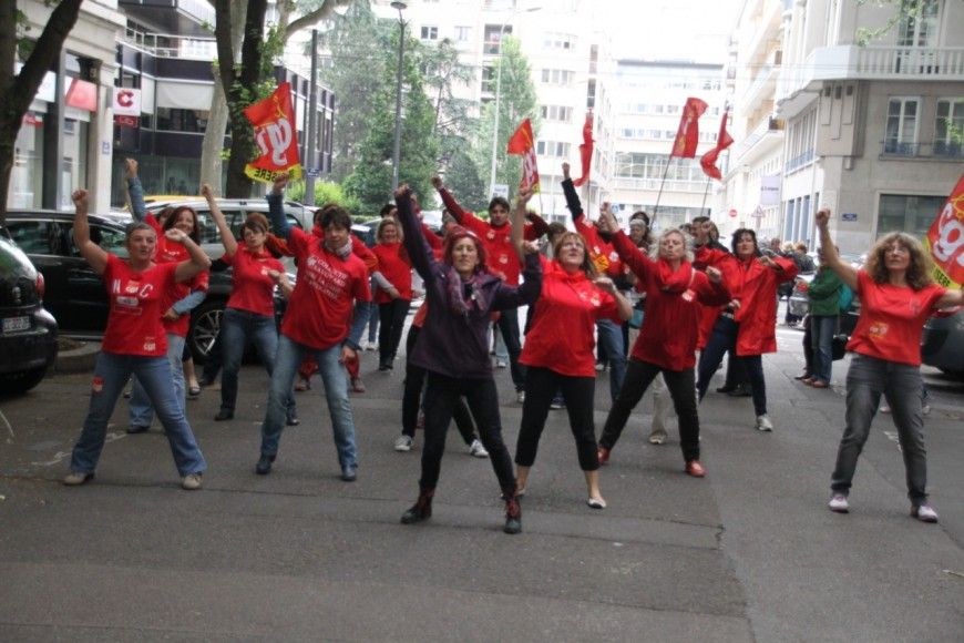 Lyon : les agents de la CPAM en grève