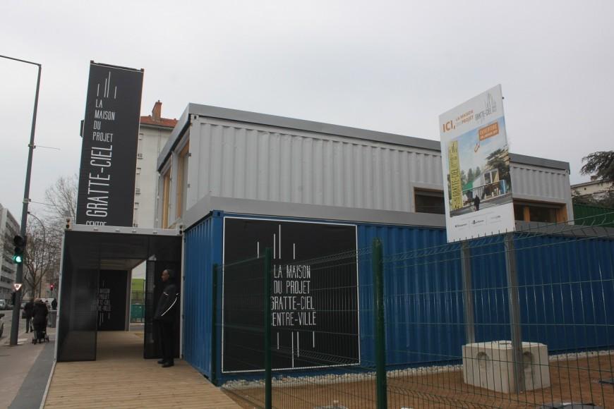 Villeurbanne inaugure sa Maison du projet Gratte-Ciel ainsi que sa maquette