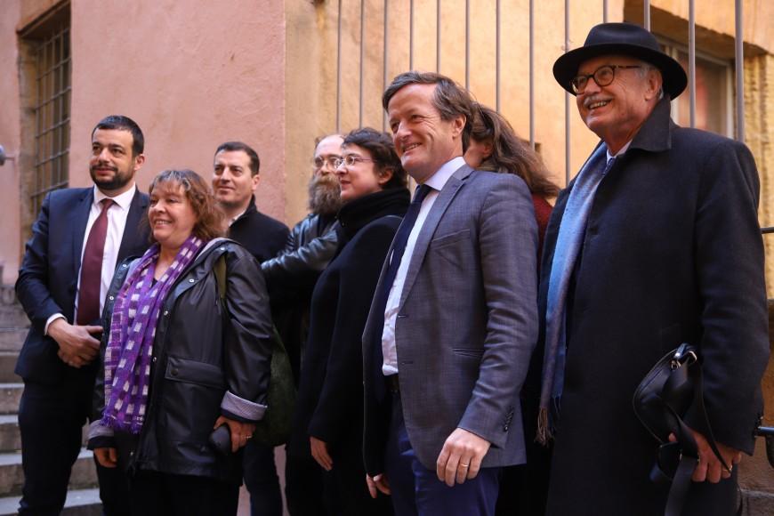 La Commission d'enquête sur la lutte contre les groupuscules d'extrême droite en déplacement dans le Vieux Lyon