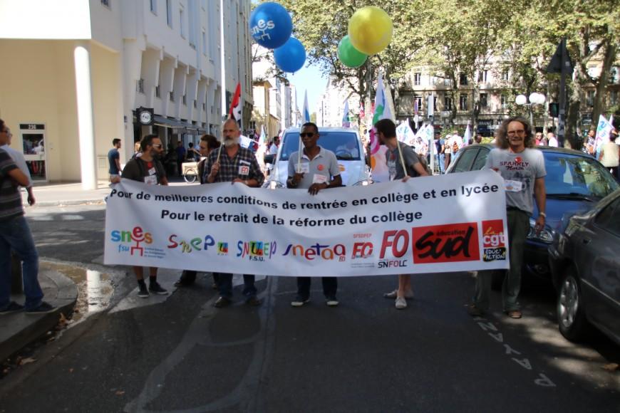 Faible mobilisation des profs à Lyon pour la première manifestation de l'année scolaire