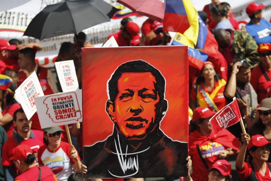 Rassemblement à Lyon pour saluer l'action d'Hugo Chavez