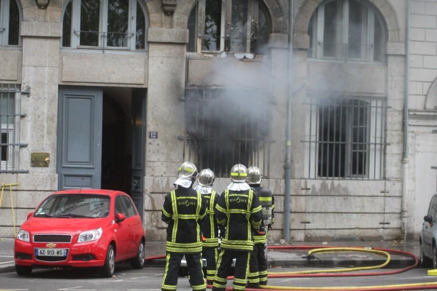 Un incendie ce samedi quai Lassagne à Lyon